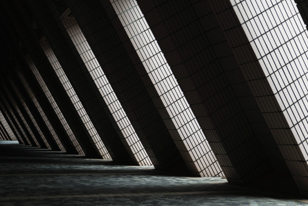 Shadows at a Hong Kong Culture Centre corridor - [ BUY PRINT ]