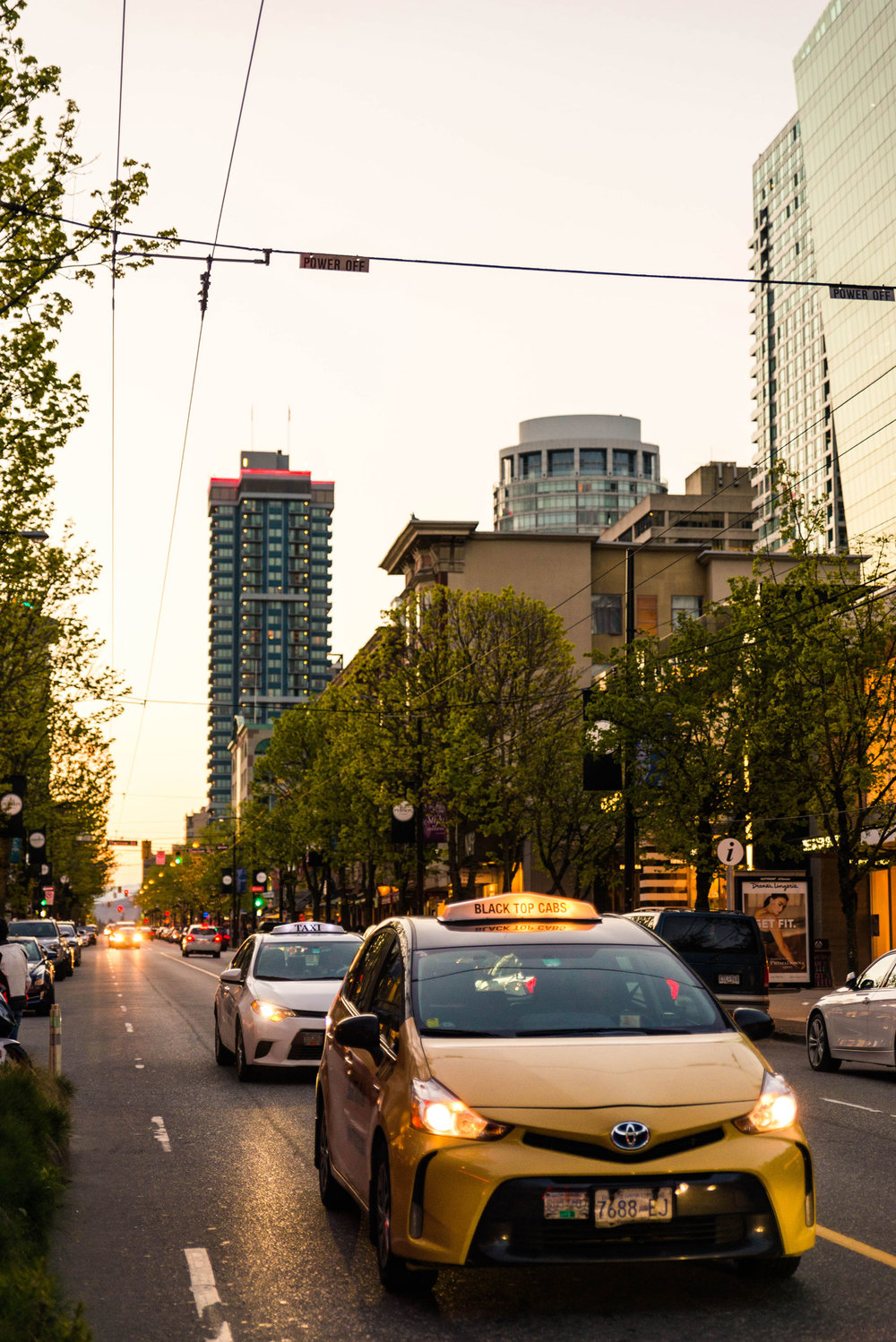 Robson Street in the late afternoon