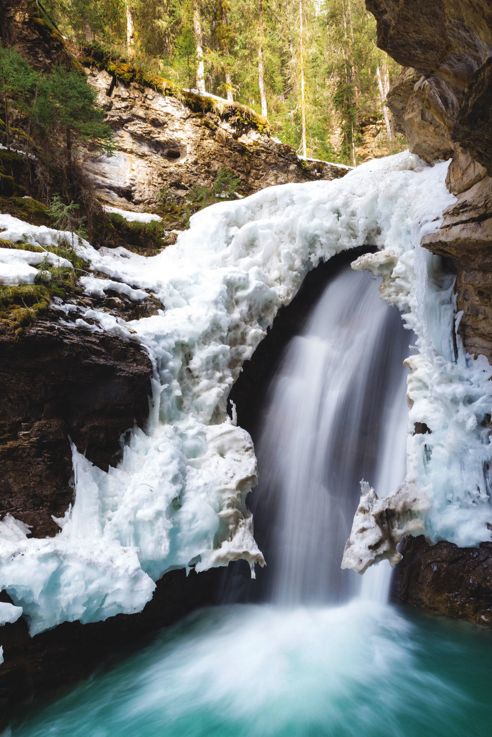Johnston Canyon's lower waterfall