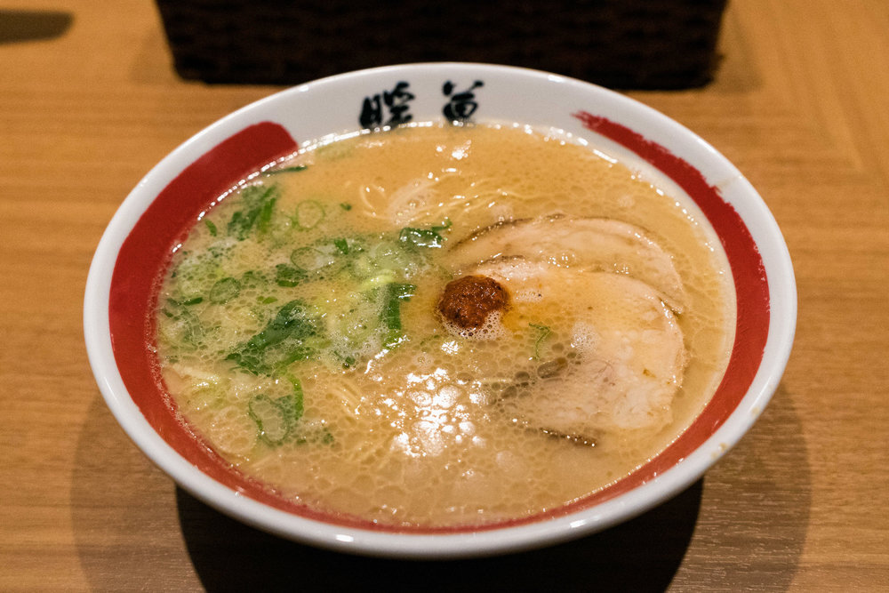 Danbo tonkotsu ramen at the Nakasu location in Fukuoka.