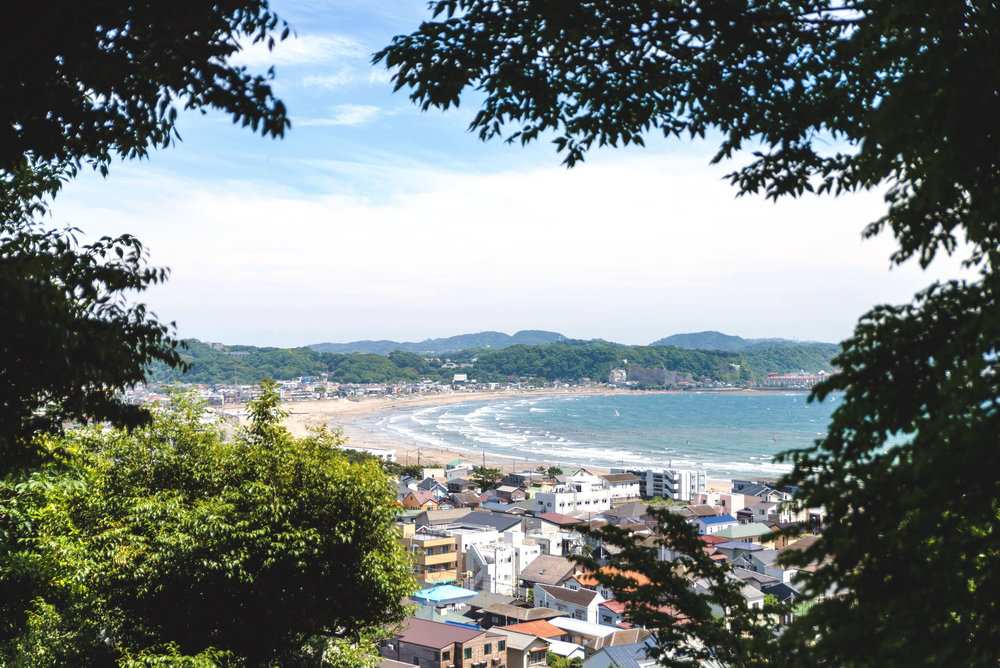Ocean view from the Hase-dera Temple hillside