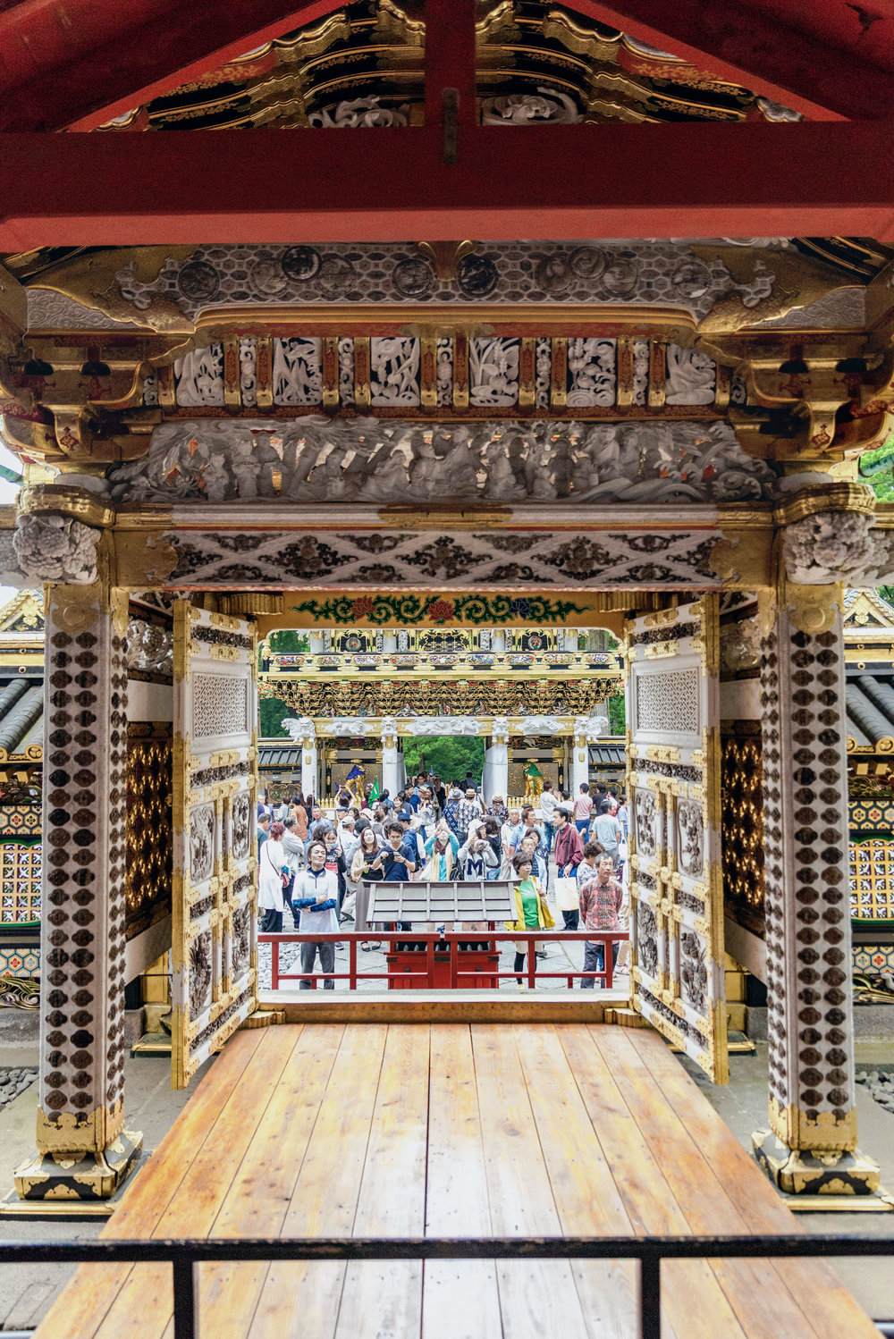 Intricate details in the decorations at Tosho-gu shrine