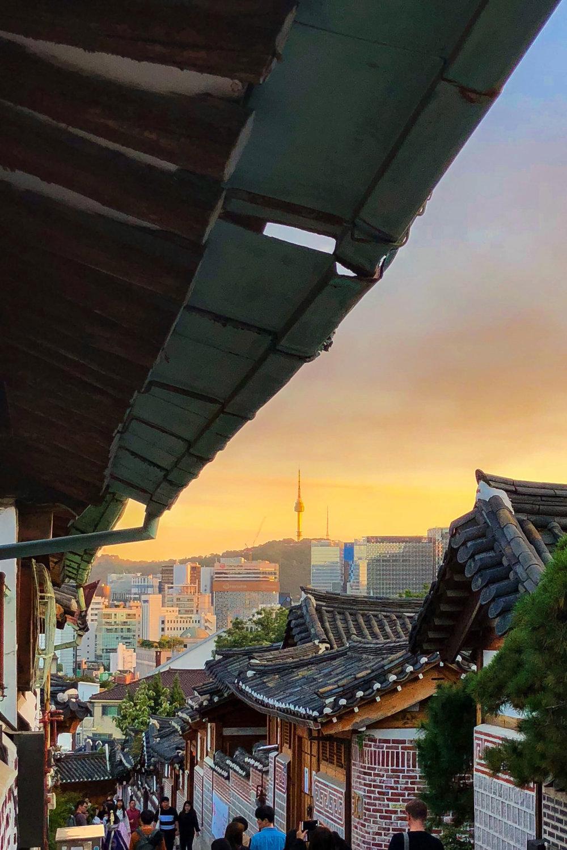 Seoul Tower seen from Bukchon Hanok Village