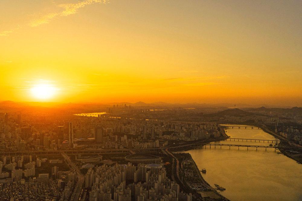 Seoul at sundown - [  BUY PRINT  ]