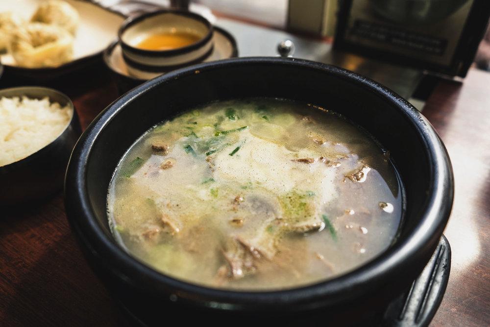 Oxtail soup at Sinseon Seolleongtang Myeongdong