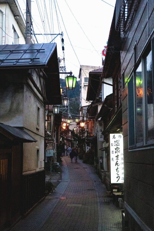 Alleys in Shibu Onsen in Yamanouchi.