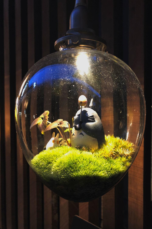 Totoro in a decoration bulb in Shibu Onsen