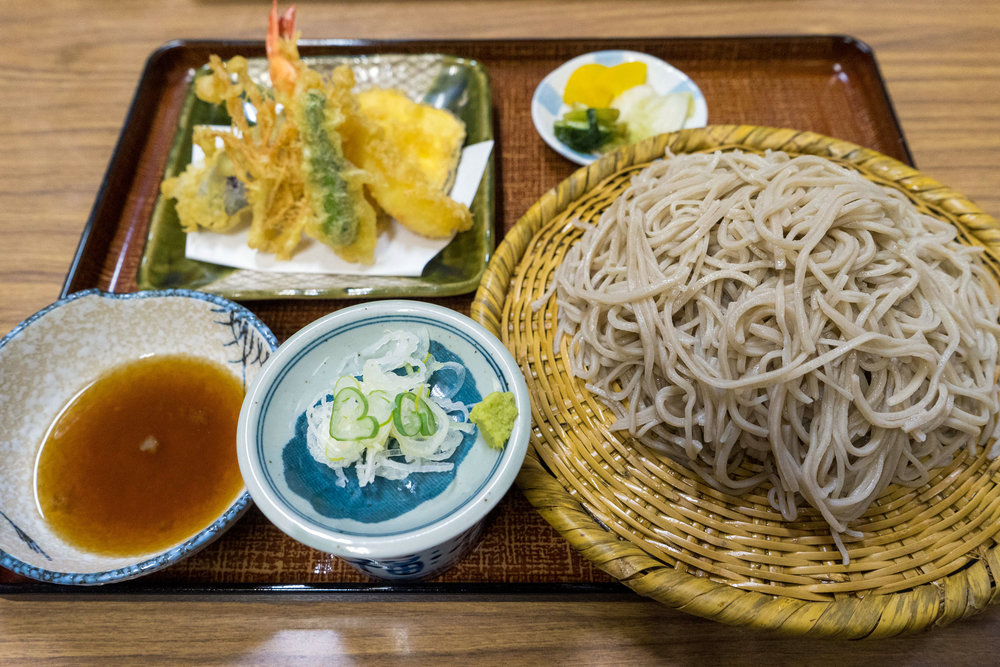 Soba at Togakushi Seya Soba-ten in Shinshu Nakano