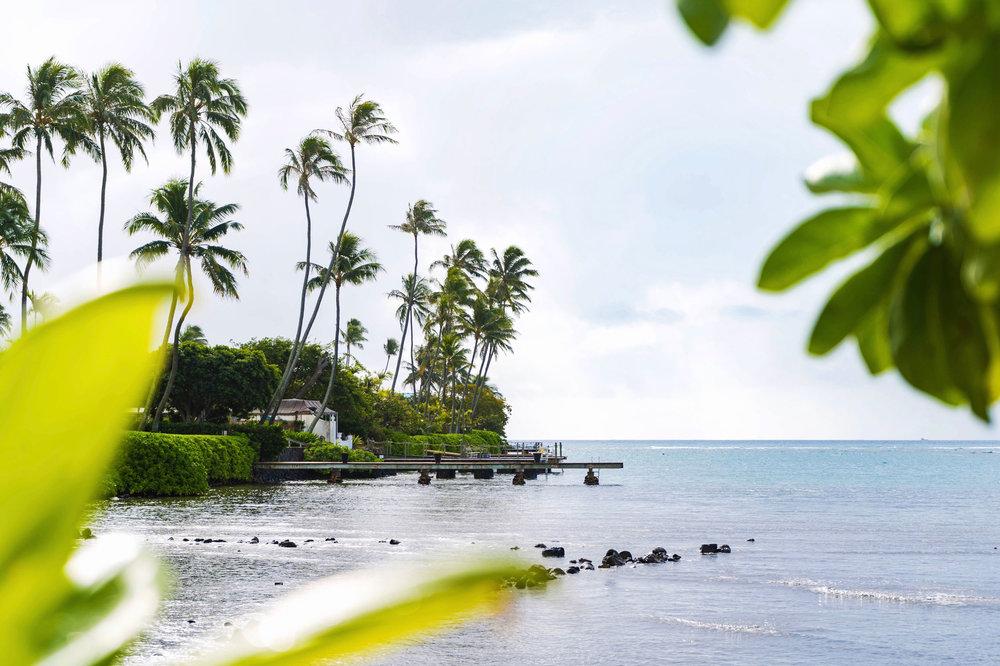 Wailupe Beach Park near Aina Haina in East Honolulu, Hawaii