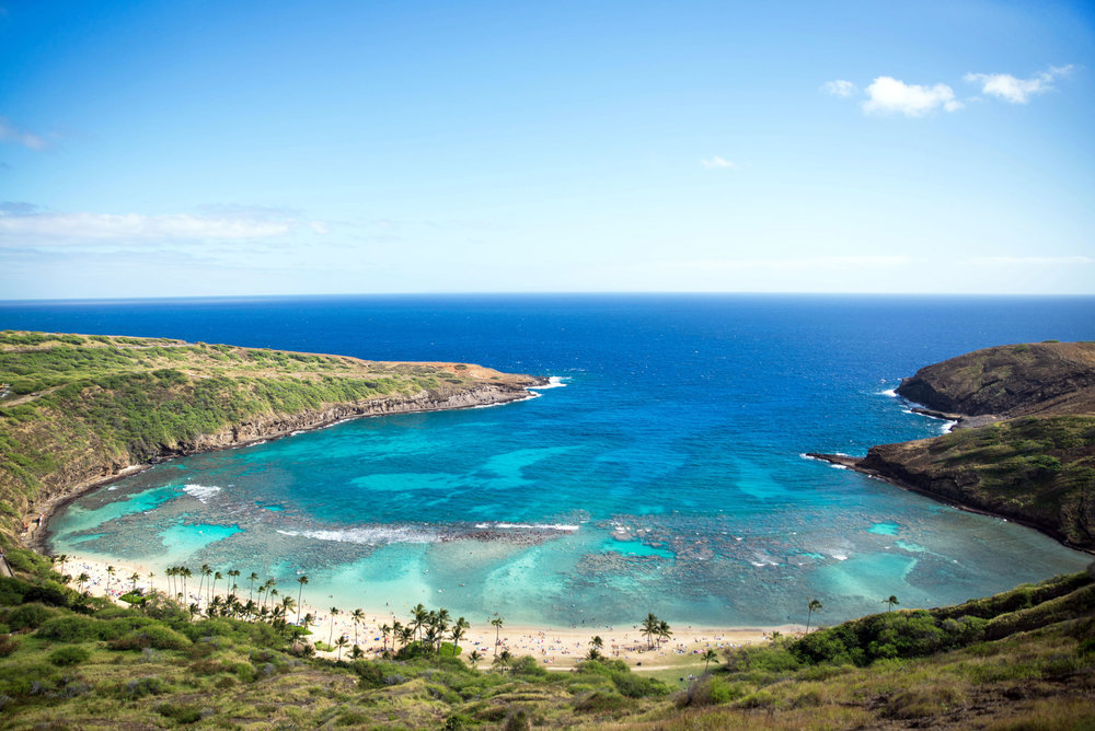 Hanauma Bay in Honolulu, Hawaii