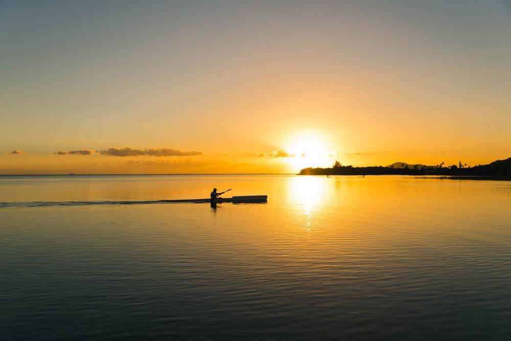 Sunset from Maunalua Bay in Hawaii Kai