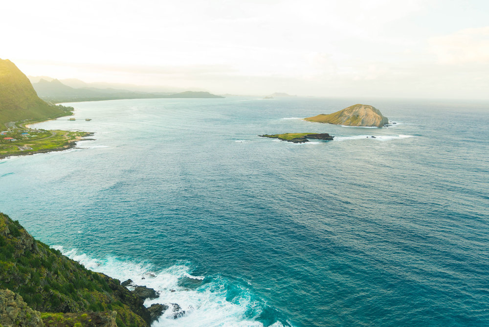 A view of Waimanalo from the Makapuu lighthouse trail