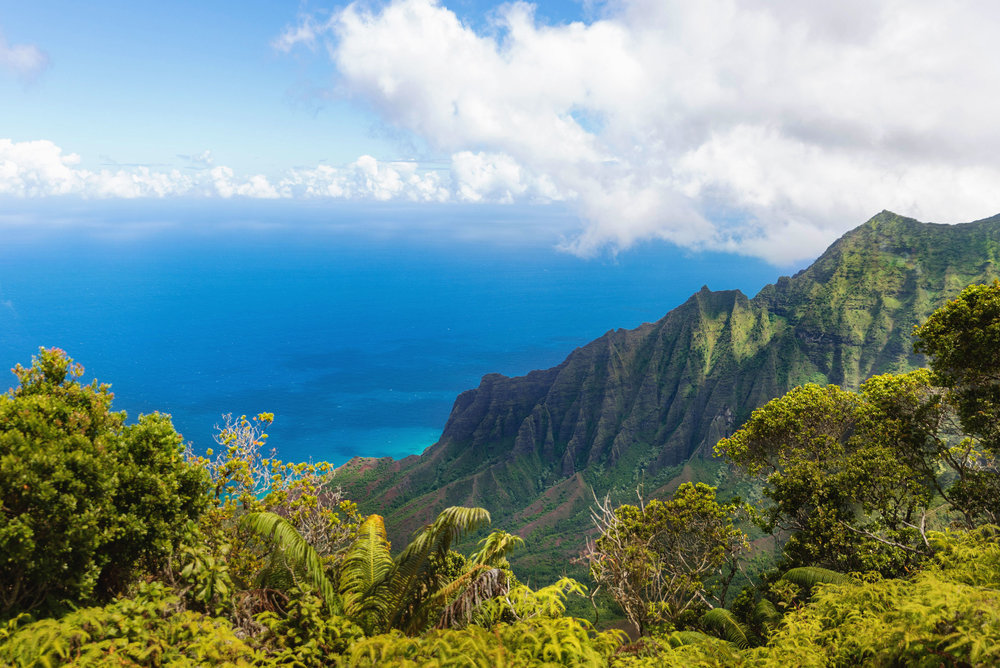 The view from the Kalalau lookout in the Kokeʻe area