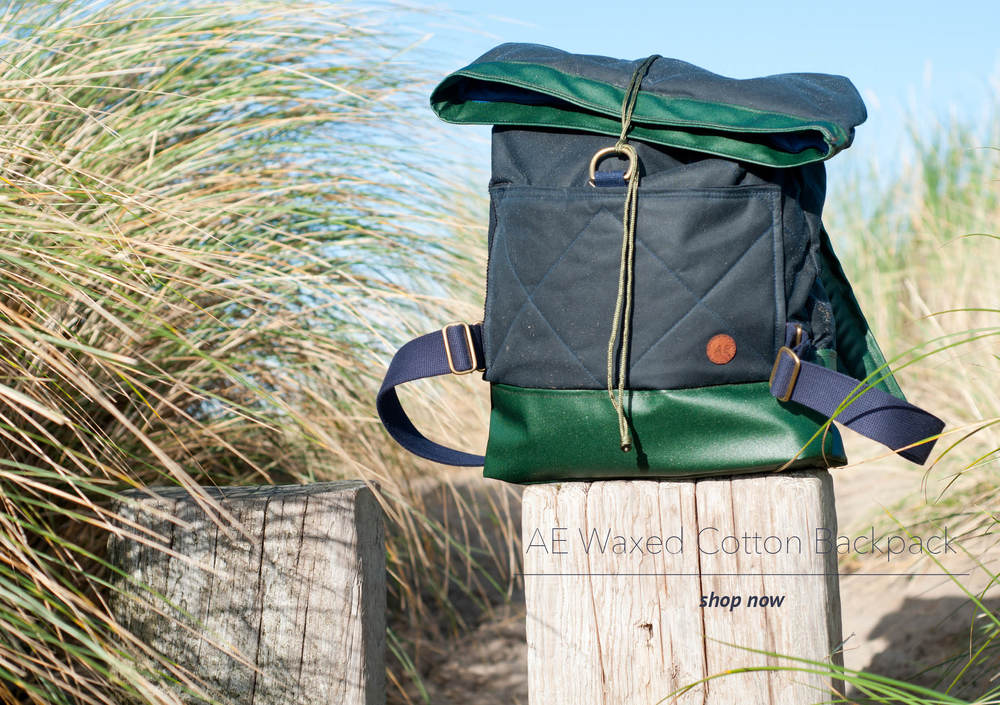 AE Waxed Cotton Rolltop Backpack