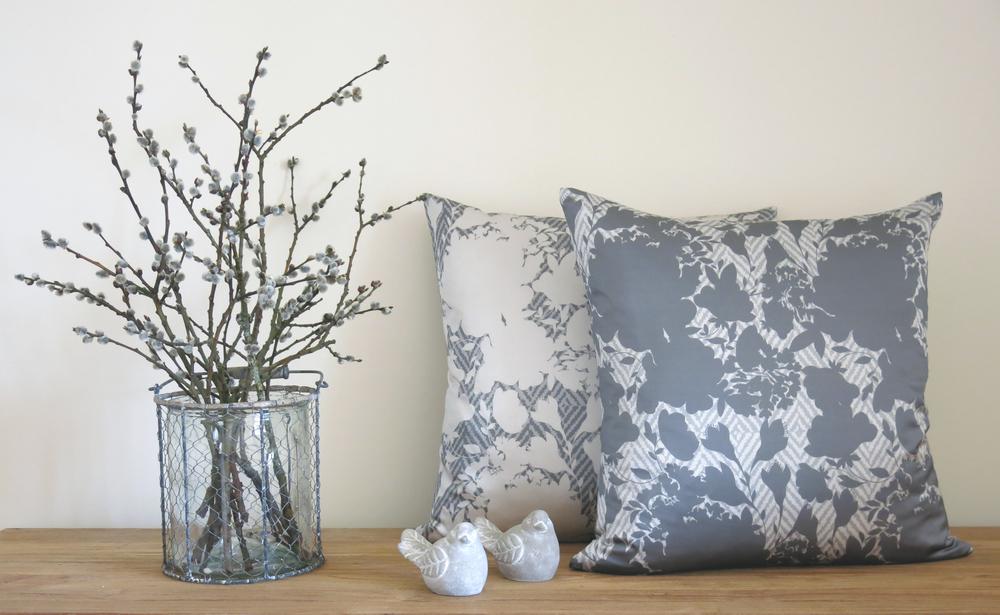 Lauraloves New Olivia Grey Cushion Range