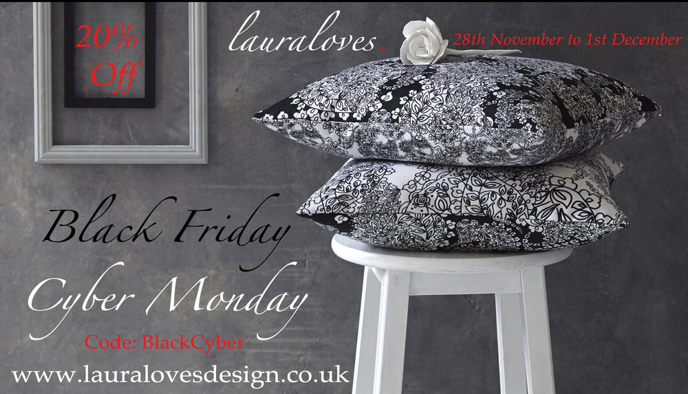 Black friday cyber monday 20% off Lauraloves
