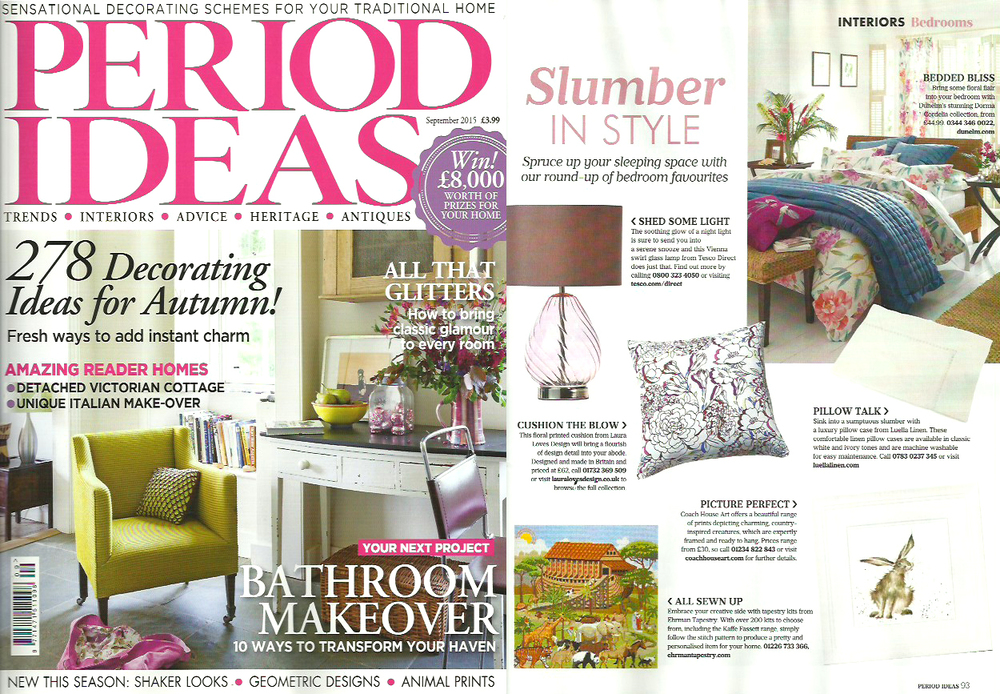 Lauraloves Freya Floral Cushion Period Homes Magazine