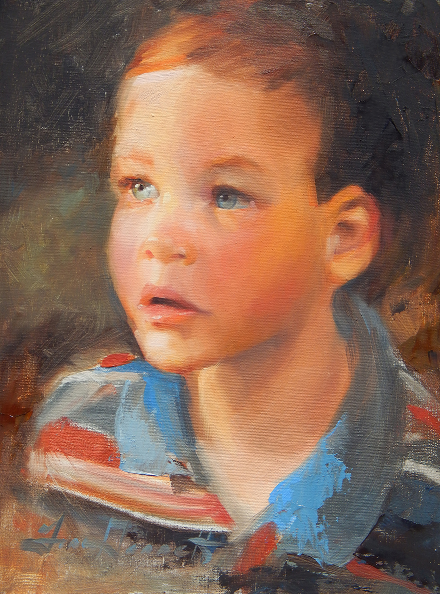 """Bright Eyes"" 11x14 Oil Commissioned Portrait"
