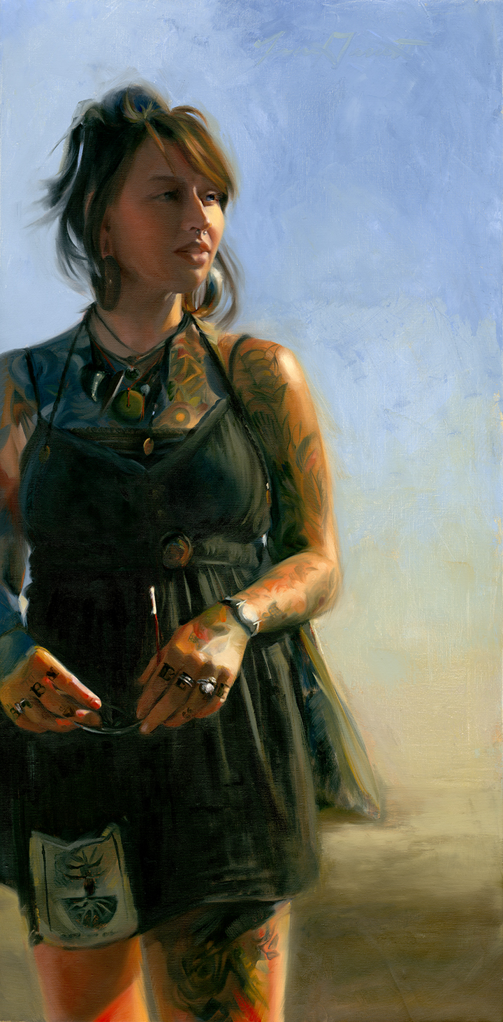 Baby Blue 18x36 Oil on Linen—SOLD