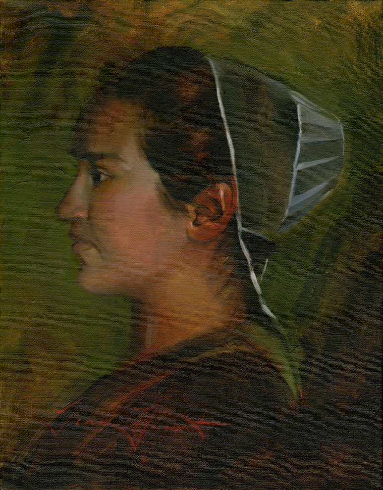 """Mennonite Girl"" 11x14 Oil — AVAILABLE"