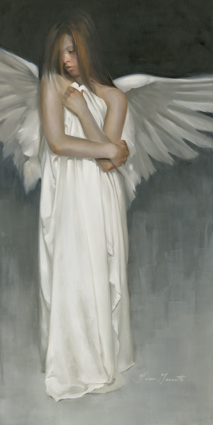 """Untitled"" Angel 24x42 Oil — AVAILABLE"