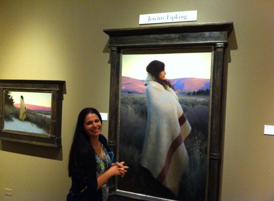 Tina admiring Jeremy Lipking's award wining work at Prix de West 2014