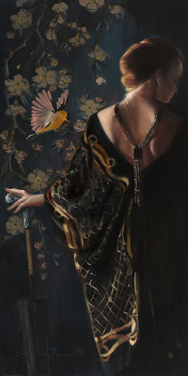 """Gold Finch"" 18x36 Oil on linen — SOLD"