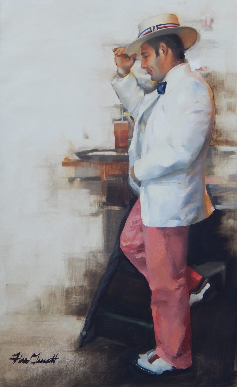"""French Quarter Sunday Best"" 21x36 Oil on linen — SOLD"