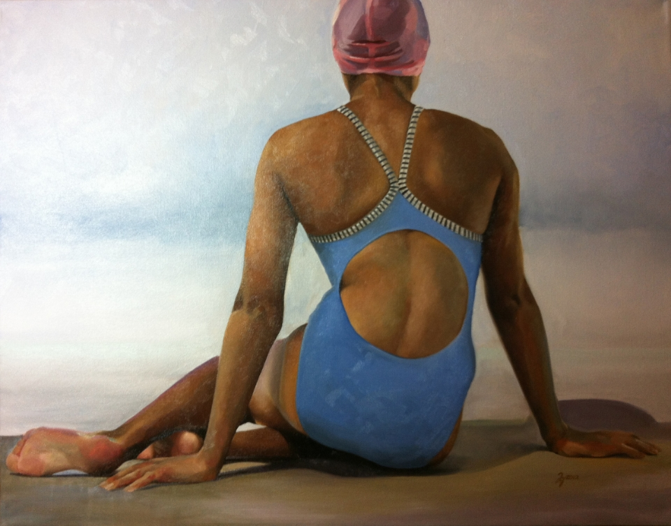 """Swimmer"" 30x40 Oil on linen — SOLD"