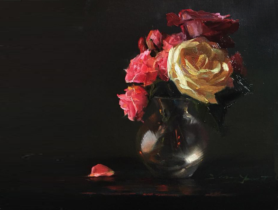 Still Life:  Small still-life works of your endeared treasures. Pricing begins at $2000.