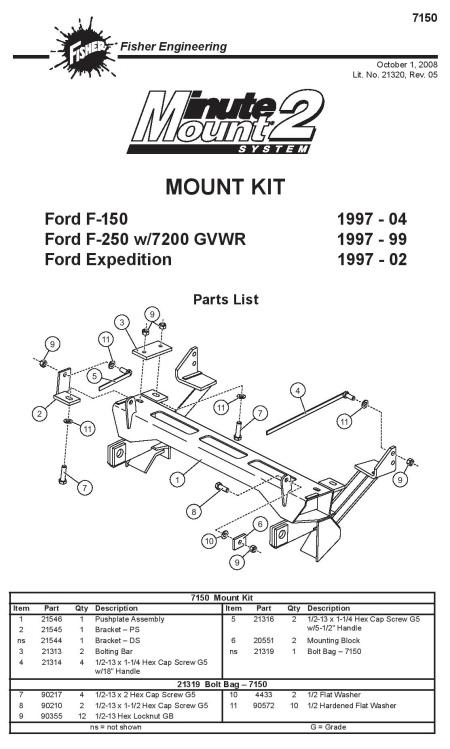 new fisher minute mount 1 & 2 plow frame mounts — boondocker equipment, inc