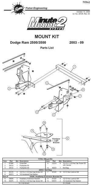 NEW Fisher Minute Mount 1 & 2 Plow Frame Mounts — Boondocker ... on