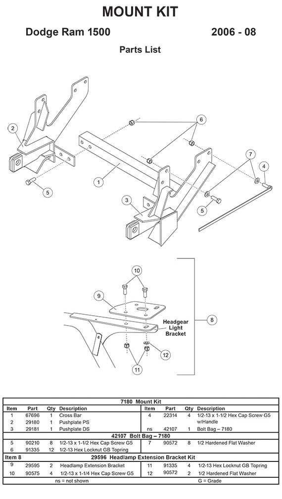 New Fisher Minute Mount 1 2 Plow Frame Mounts \u2014 Boondocker Rhboondockerequipment: 5 9l Mins Dodge Parts Diagram At Gmaili.net