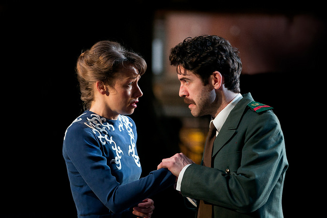 Ellie Piercy and Paul Ready in Much Ado About Nothing. Photo by Jonathan Keenan.