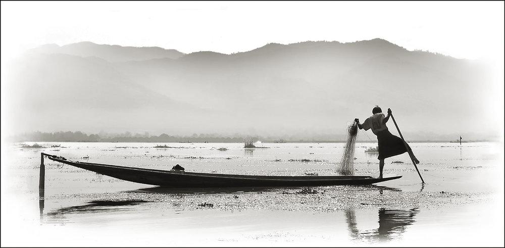 Myamar Fisherman #3 by Marc McElhaney