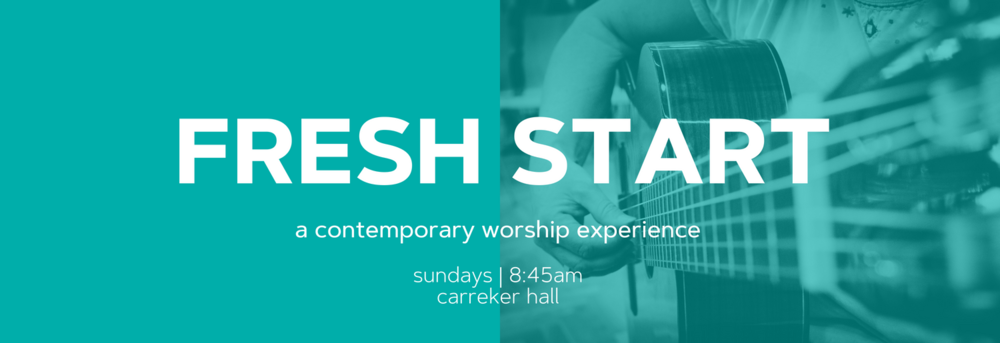Our contemporary worship service. Laid-back, contemporary, and even comes with FREE coffee! 8:45am in Fellowship (Carreker) Hall.