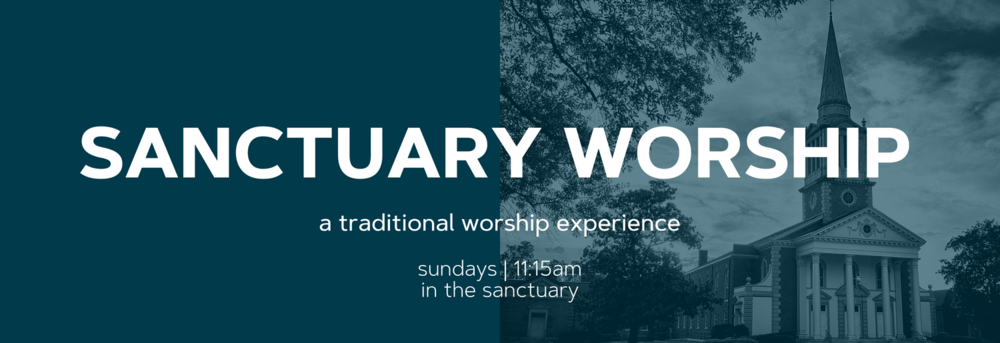 Our traditional worship service (hymns, choir, organ, etc.). Laid-back, traditional, and comes with the warmest smiles and welcomes this side of the Mississippi! 11:15am in the Sanctuary.