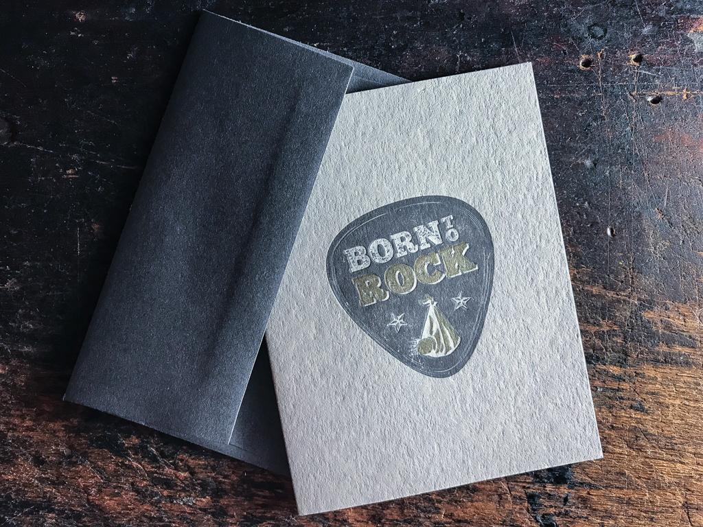 Born To Rock/ /personnalis/é b/éb/é /à manches longues gilets bodies b/éb/é Grandit/ gar/çons, filles /Mixte /Naissance /Blanc/ /