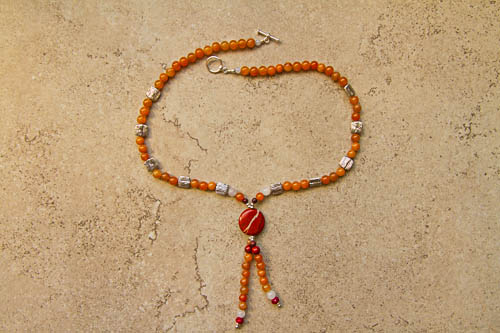 Peach Aventurine Necklace.jpg