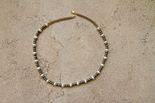 Pyrite and Pearl Necklace.jpg