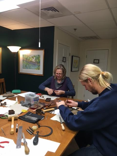 Metalsmithing students hard at work