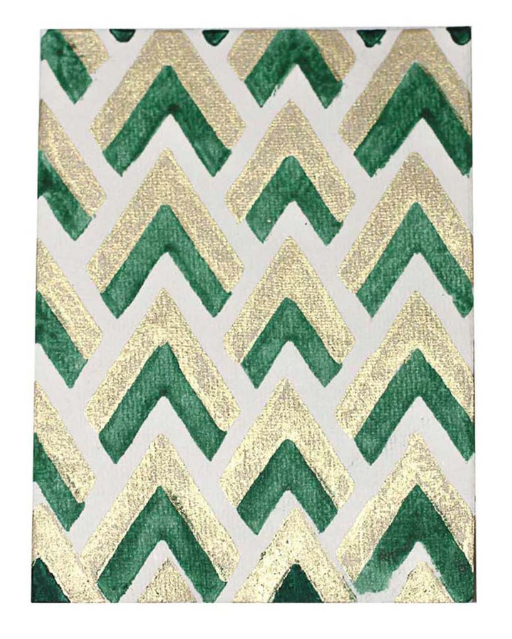 Handmade Cards- Emerald/Gold Broken Chevron- $10    These cards  from  JOYN  are handmade (even the paper!) in India and come in a 6-pack with envelopes. They helps provide employment, educational opportunities and medical care to artisans in the Himalayas and are GORGEOUS. Granted, I'm a sucker for anything that's emerald green...but these would be perfect for sending some holiday snail mail!