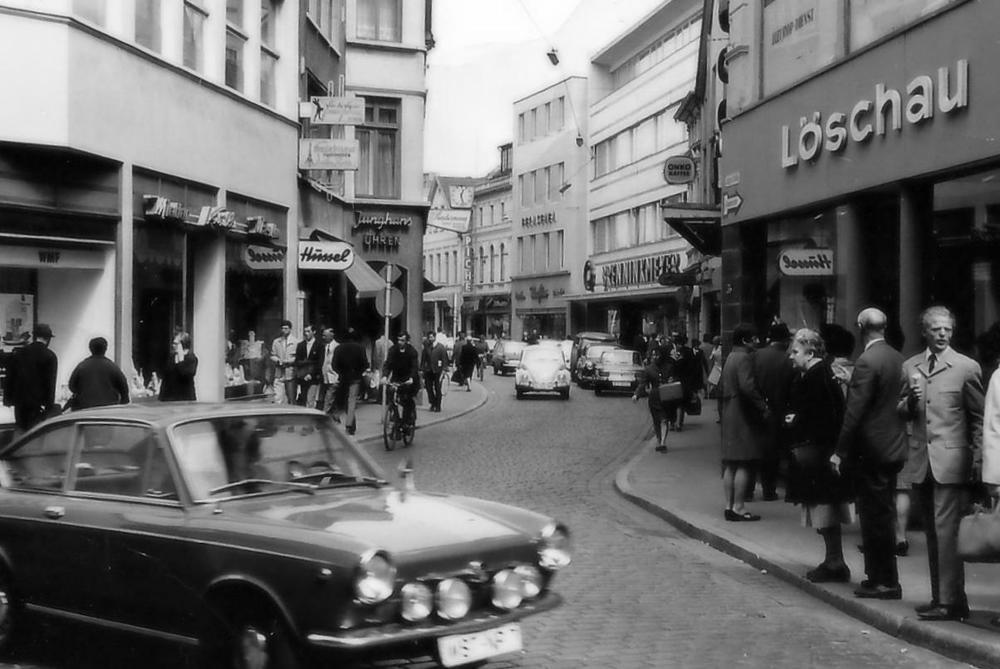 Klaus Löschaus erster Laden in der Langen Straße in Oldenburg.