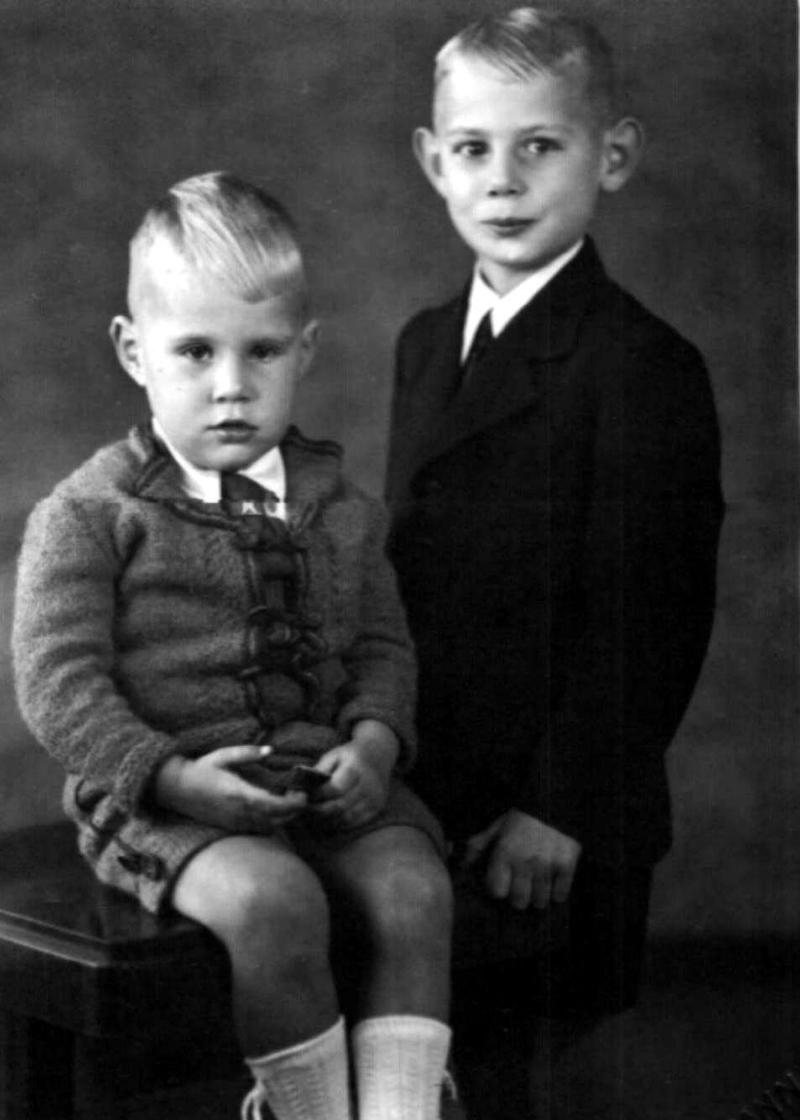 Gärtner-Sprösslinge Fred und Klaus Löschau in den 1940er Jahren.