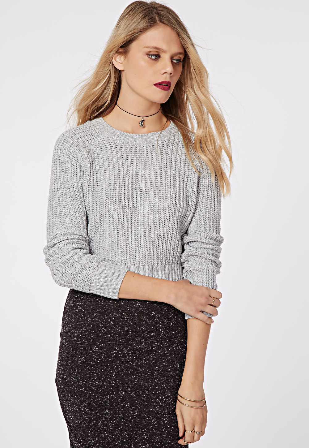 MISSGUIDED CROPPED JUMPER