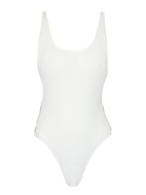 THAPELO PARIS Karlie button-detail scoop-side swimsuit