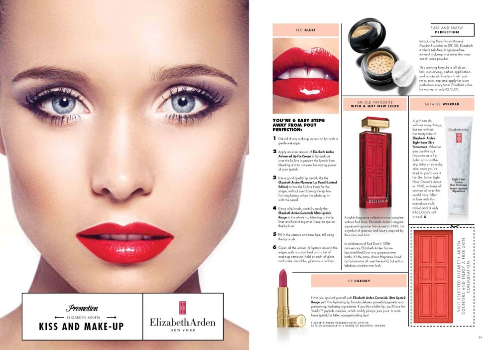 VOILA! Magazine Elizabeth Arden Advertising