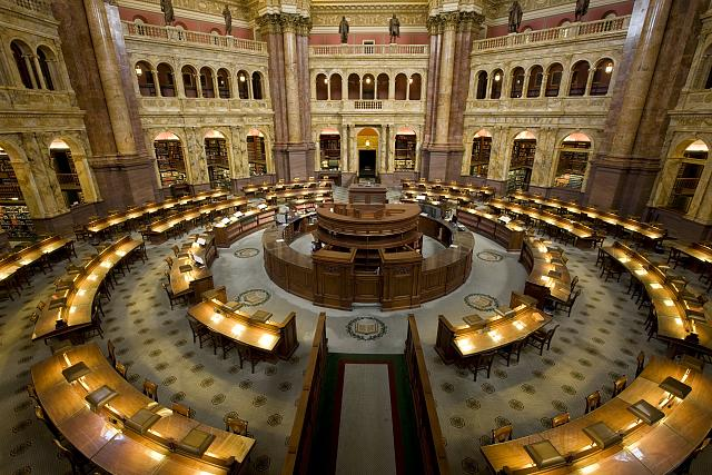 Library of Congress Main Reading Room, Thomas Jefferson Building, Washington, D.C.