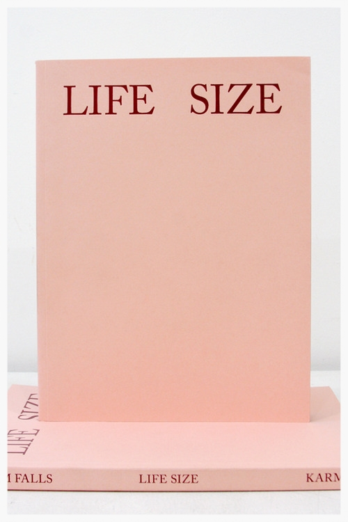 Life Size By Jamie Kanzler, Photos by Sam Falls  Karma Publishing, New York, 2012 Available through Amazon