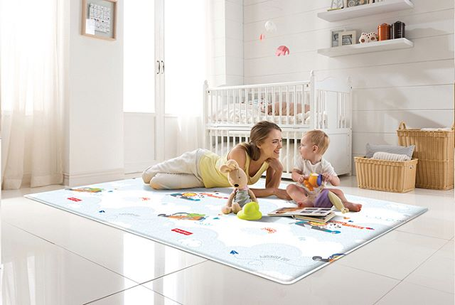 """Fisher-Price """"Flying / Rising Star"""" Soft Mat  On sale now for $179.99. (Sale ends Wednesday)  Parklon Soft Mats feature a unique cushioning that provides comfort and more importantly, protects little ones when they fall down. This is the perfect mat for tummy time, learning to crawl or walk, and play time! Protect your baby from hard floors today with one of these mats!  #parklonamerica #parklon #playmat #tummytime #fisherprice"""